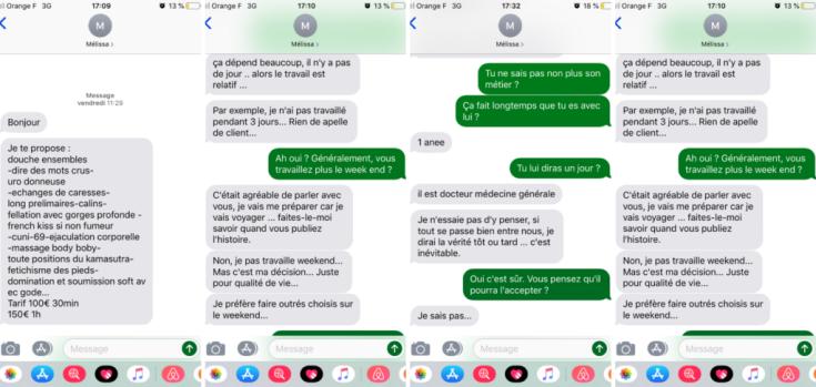 prostitution message